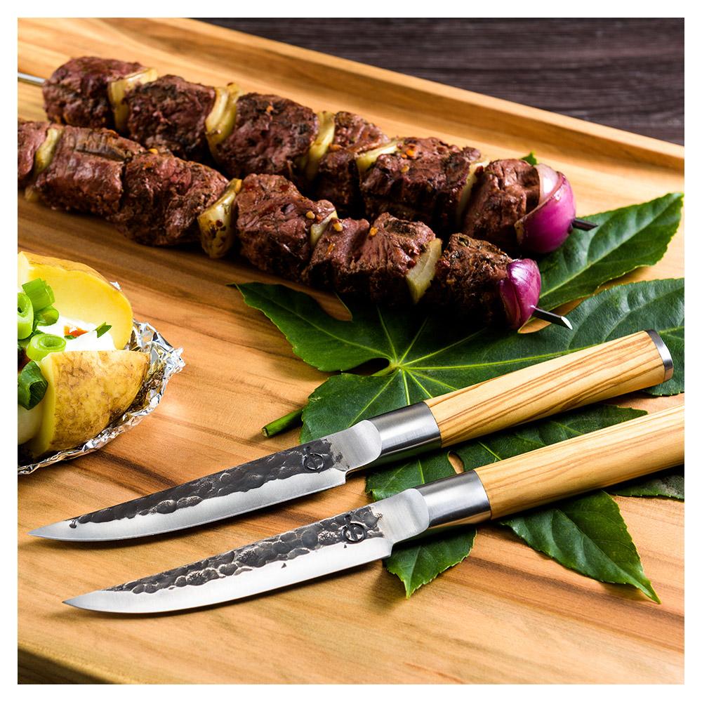 Forged Olive 4er Set Steakmesser
