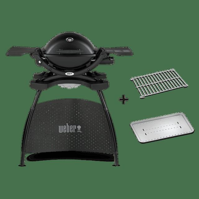 Weber® Q 1200 Gasgrill mit Stand - Black