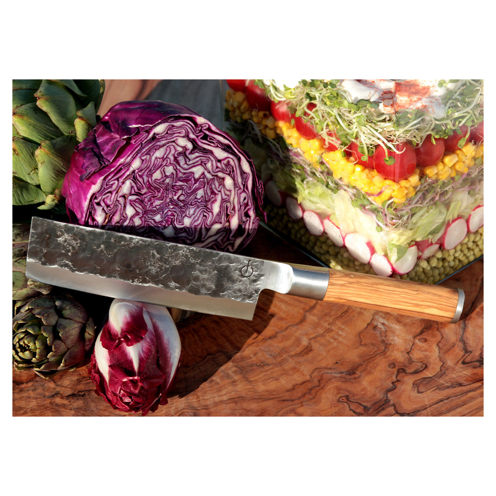 Forged Olive Hackmesser / Gemüsemesser