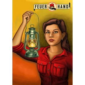 Blechschild Feuerhand Petromax