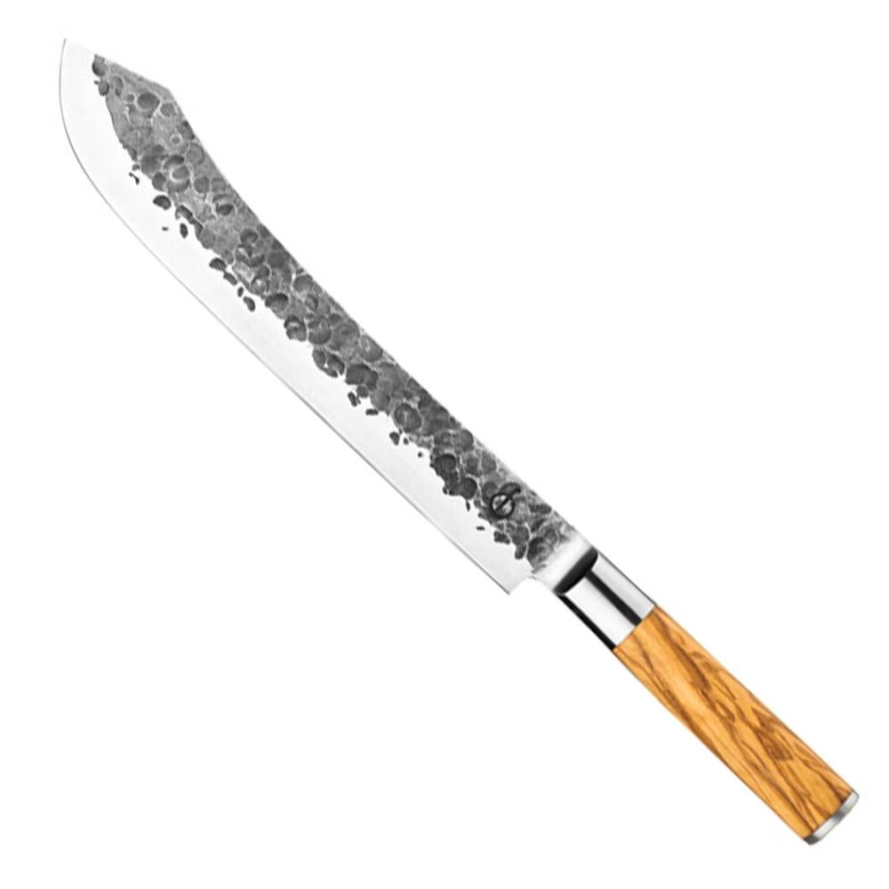 Forged Olive Butcher BBQ Messer