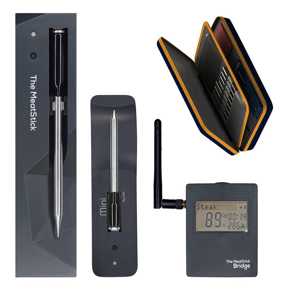 SET 8 Combo-Set - The Meatstick + Mini by TMS - mit Ladegerät, Mini X Ladegerät, Bridge, Tasche